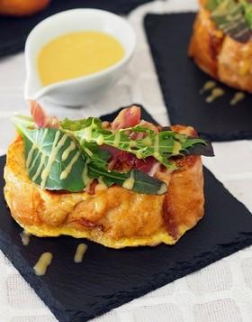 トリュフソースとチーズのフレンチトースト