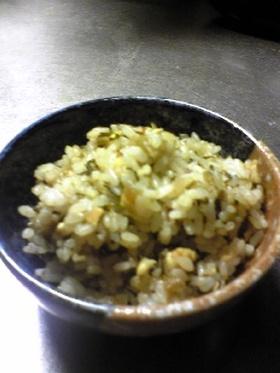 大根の葉で高菜風味の炒飯