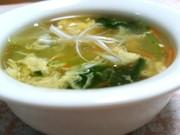 ぱぱっと出来ちゃう♪青梗菜のとろ卵スープの写真