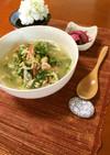 菊菜とカニカマの卵とじスープ