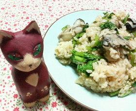 牡蠣と♡小松菜の♥簡単♡炊き込みご飯♪