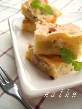 ノンバター・さつま芋の豆乳クリームケーキ