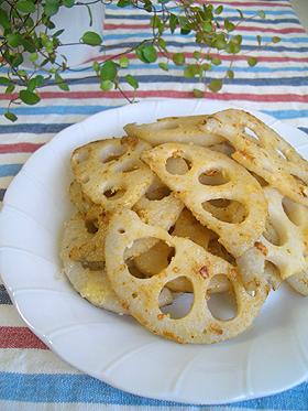 れんこんのパルメザンチーズ焼き