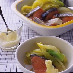 鮭とキャベツの洋風煮