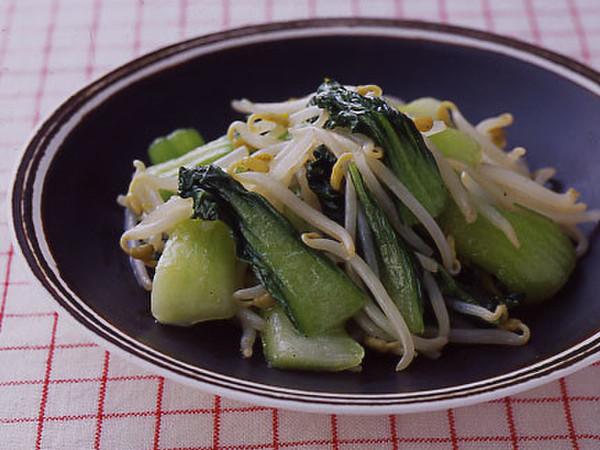 青梗菜ともやしのさっと炒め