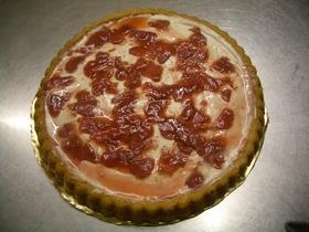 簡単イチゴジャムとカスタードのケーキ