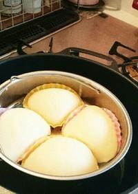 コストコパンケーキミックスで簡単蒸しパン
