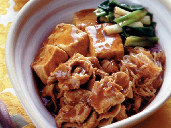 カレー風味の肉豆腐