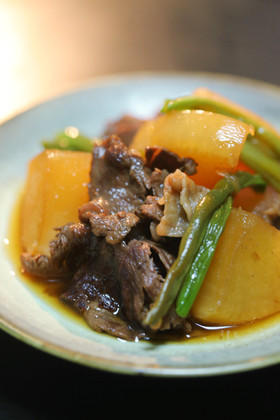 天然だしパックで作る 牛肉と大根の旨煮