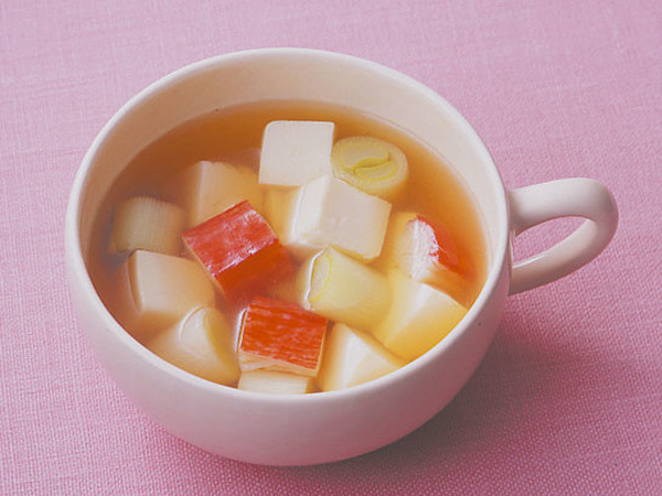 豆腐とかにかまのスープ