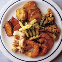 野菜と魚介のフリット