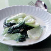 青梗菜のクリーム煮