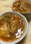 さばの味噌煮缶でコクうまキムチスープ