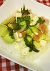 モッツァレラ生ハムのサラダ寿司