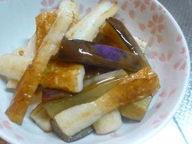 お弁当に♪ちくわとなすのバタポン炒め♥