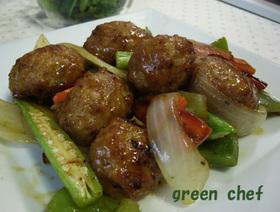 肉団子と野菜の甘酢