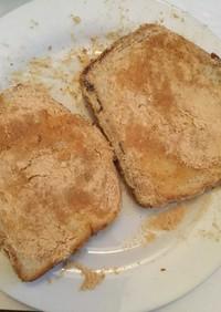昔、給食に出た、きな粉パンを食パンで再現