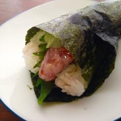 手巻き寿司にオリーブオイル