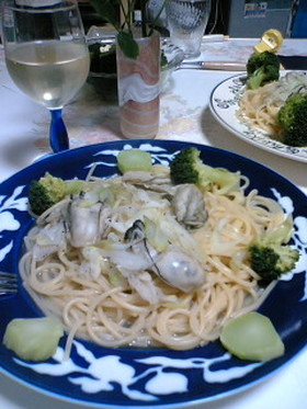 カキとブロッコリーのスパゲティ
