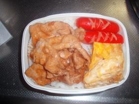 朝の10分簡単豚丼弁当