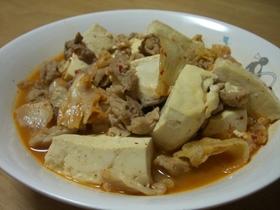 キムチ入り肉豆腐
