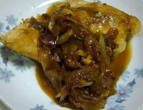 覚書レシピ(鳥胸肉のオニオンソース