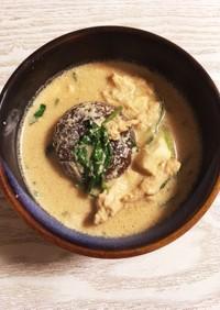 シイタケとササミのヘルシー塩豆乳スープ♪
