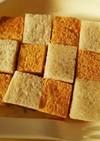 簡単!離乳食*ジャムときなこの市松パン
