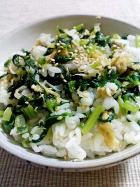 小松菜とちりめんじゃこの混ぜご飯