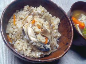 牡蠣の香りたっぷり♥かきご飯