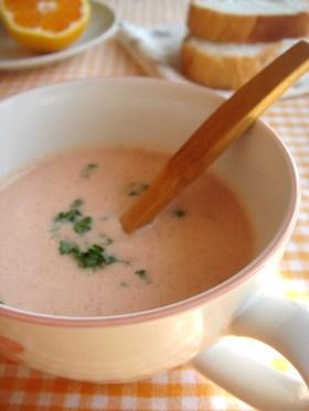 トマト&豆乳の冷製ポタージュ