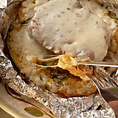 かぼちゃとチーズのホイル焼きステーキ