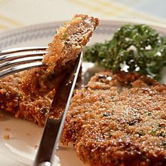 粉チーズとパセリの揚げステーキ