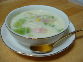 豆乳繊維たっぷりスープ