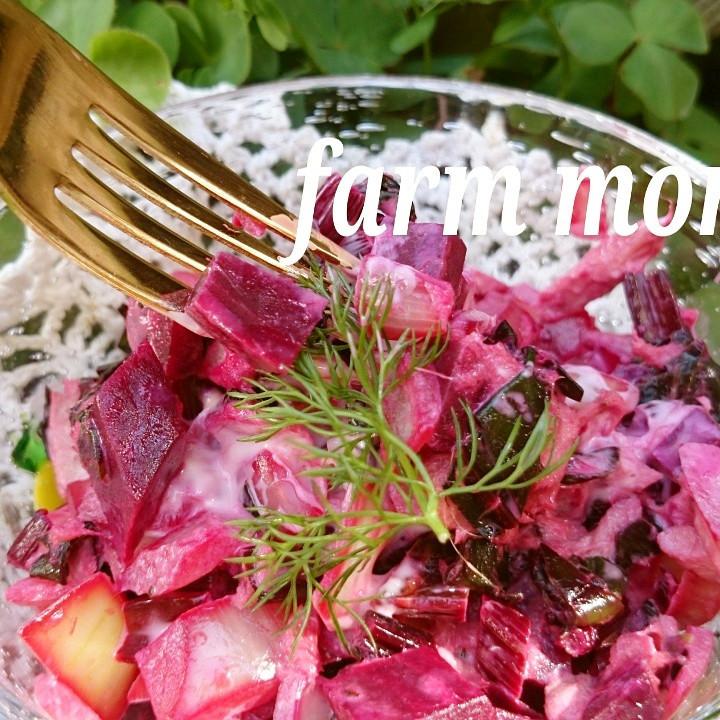あまーい❤ビーツと玉ねぎのツナマヨ炒め