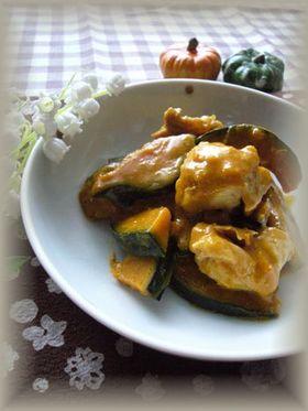 鶏肉とかぼちゃのこってり炒め
