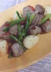 砂肝とニンニク炒め