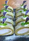 卵白消費!抹茶のロールケーキ