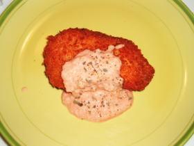 鮭のフライ~サーモンソース