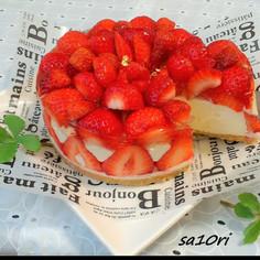 華やか!苺たっぷり♪レアチーズケーキ!