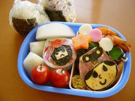 ぜんまいざむらい☆豆丸弁当(キャラ弁)