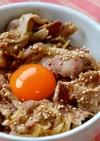 豚スタミナ丼風