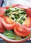 トマトとレタスときゅうりのサラダ