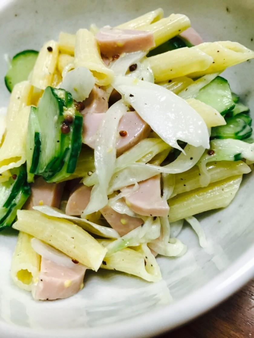 魚肉ソーセージのマカロニサラダ