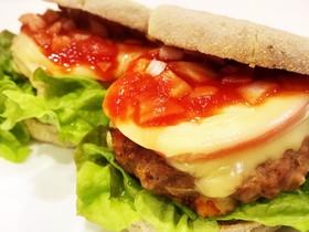 ふわふわパテのとろけるハンバーガー♡簡単