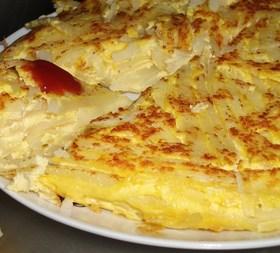 ジャガイモとチーズのオムレツ