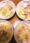 春キャベツとおさかなソーセージの炒め物