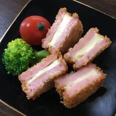 お弁当に♡お魚バーグのチーズはさみフライ