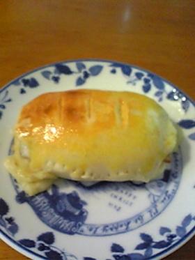 お腹いっぱいღ発酵なしベーコンチーズぱん