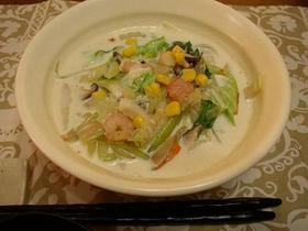 豆乳スープのヘルシー海鮮ラーメン
